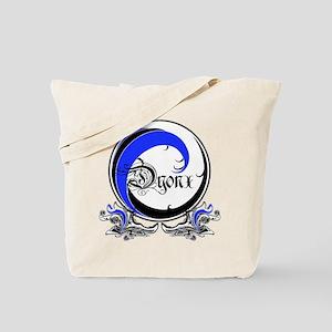 DYONX BLUE WAVE: Tote Bag
