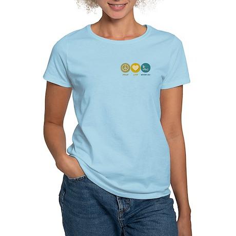 Peace Love Water Ski Women's Light T-Shirt