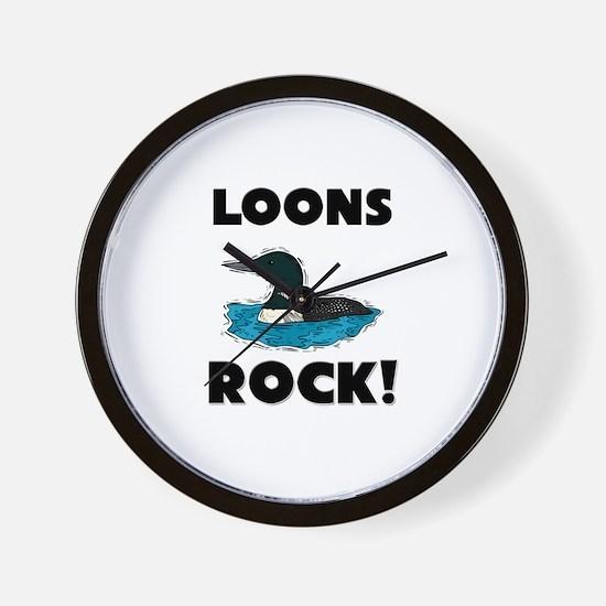 Loons Rock! Wall Clock