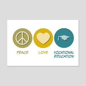 Peace Love Vocational Education Mini Poster Print
