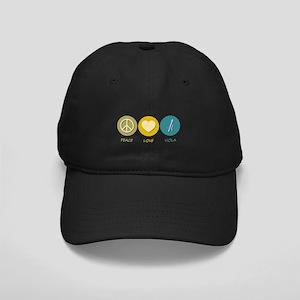 Peace Love Viola Black Cap