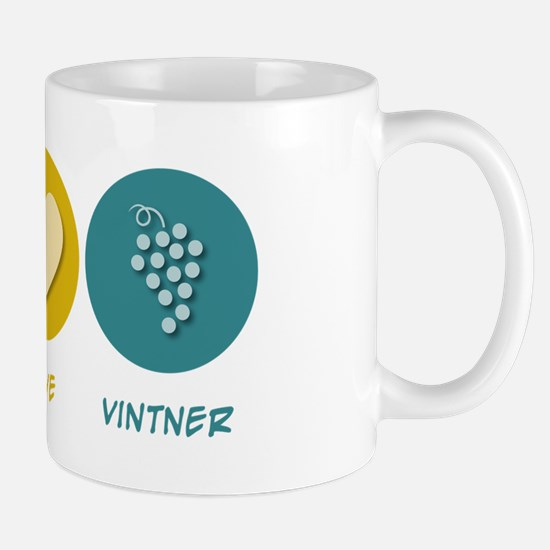 Peace Love Vintner Mug