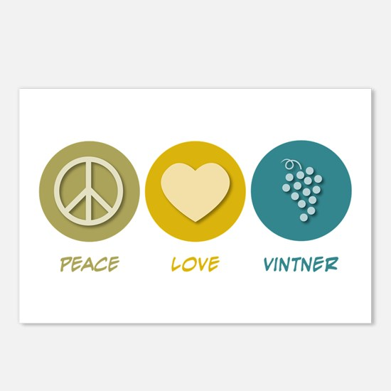 Peace Love Vintner Postcards (Package of 8)