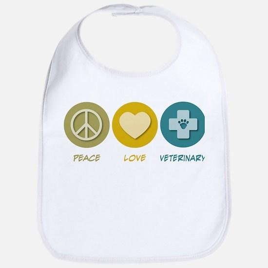 Peace Love Veterinary Bib