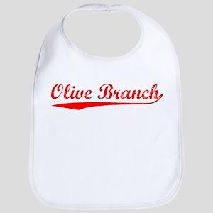 Vintage Olive Branch (Red) Bib