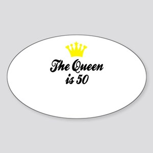 The Queen is 50 Sticker