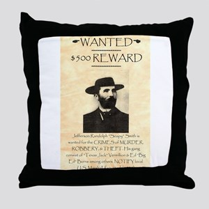 Soapy Smith Throw Pillow