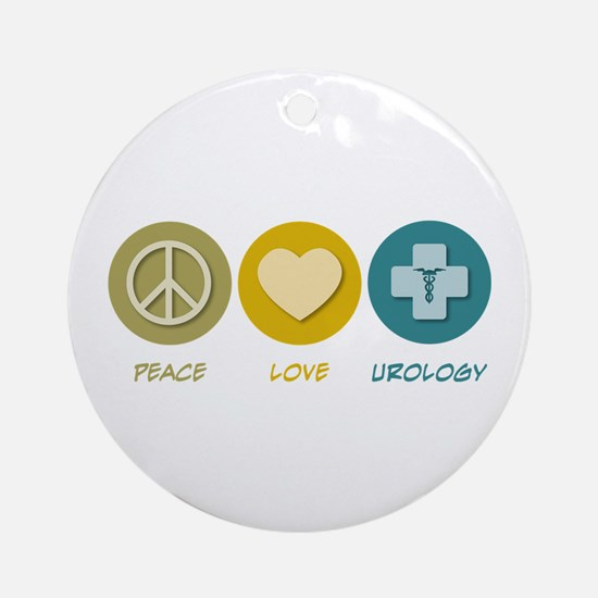 Peace Love Urology Ornament (Round)