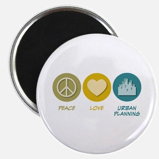 Peace Love Urban Planning Magnet