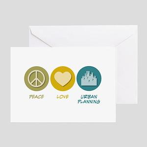 Peace Love Urban Planning Greeting Card