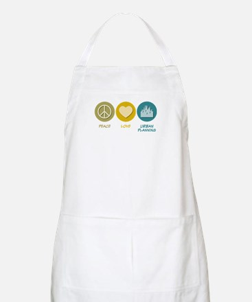 Peace Love Urban Planning BBQ Apron