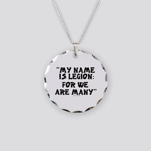 MY NAME IS LEGION - FOR WE A Necklace Circle Charm