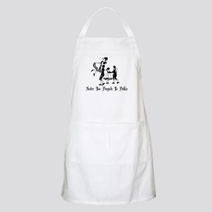 Never Too Pooped To Polka BBQ Apron