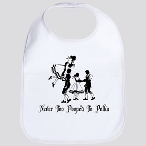 Never Too Pooped To Polka Bib