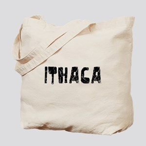 Ithaca Faded (Black) Tote Bag