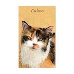 Calico Cat Sticker (Rectangle)