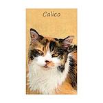 Calico Cat Sticker (Rectangle 50 pk)