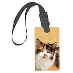 Calico Cat Large Luggage Tag