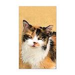 Calico Cat Rectangle Car Magnet