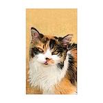 Calico Cat Sticker (Rectangle 10 pk)