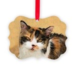 Calico Cat Picture Ornament
