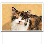 Calico Cat Yard Sign