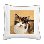 Calico Cat Square Canvas Pillow