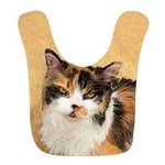 Calico Cat Polyester Baby Bib