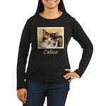 Calico Cat Women's Long Sleeve Dark T-Shirt