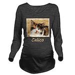 Calico Cat Long Sleeve Maternity T-Shirt