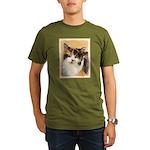 Calico Cat Organic Men's T-Shirt (dark)