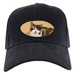 Calico Cat Black Cap with Patch