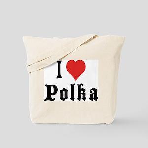 I Love Polka Tote Bag