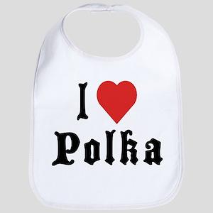 I Love Polka Bib