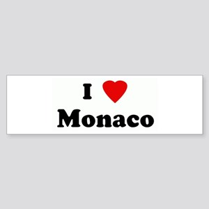 I Love Monaco Bumper Sticker