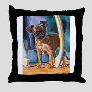 Mini Pearl Brussels Griffon Throw Pillow