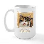 Calico Cat 15 oz Ceramic Large Mug