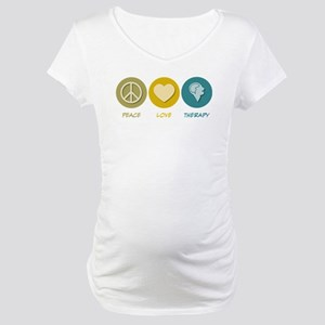 Peace Love Therapy Maternity T-Shirt