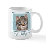 Gray Tabby Cat 11 oz Ceramic Mug