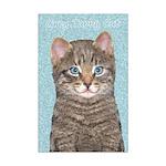 Gray Tabby Cat Mini Poster Print