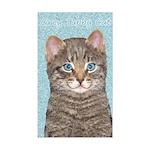 Gray Tabby Cat Sticker (Rectangle)