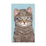 Gray Tabby Cat 20x12 Wall Decal