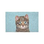 Gray Tabby Cat Area Rug