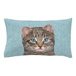 Gray Tabby Cat Pillow Case