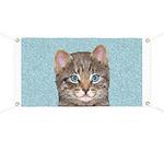 Gray Tabby Cat Banner