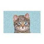 Gray Tabby Cat 35x21 Wall Decal