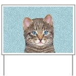 Gray Tabby Cat Yard Sign