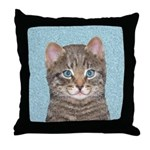 Gray Tabby Cat Throw Pillow