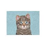 Gray Tabby Cat 5'x7'Area Rug