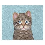 Gray Tabby Cat King Duvet